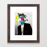 Clusters on mind #3 Framed Art Print