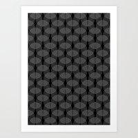 Black Undulation Art Print