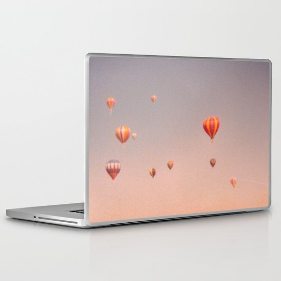 vintage hot air balloons in rio Laptop & iPad Skin