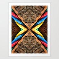 X Letter Art Print