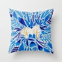 As If – Navy & Gold Throw Pillow