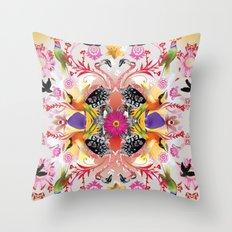 Kaleidoscope Flamingos Throw Pillow