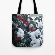 Winter And Snow Tote Bag