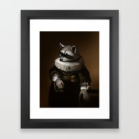 Regal Raccoon Framed Art Print