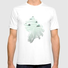 Race for the Prize White Mens Fitted Tee SMALL