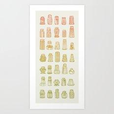 Salt & Pepper (Color) Art Print