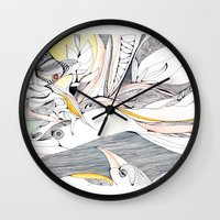 Fly in the crowded sky Wall Clock