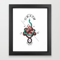 Wrath of the Serpent Framed Art Print