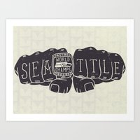 Seattle Seahawks Super Bowl World Champs Art Print