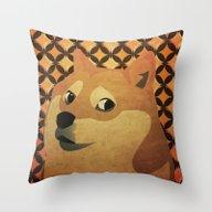 So Doge.  Much Art. Wow. Throw Pillow