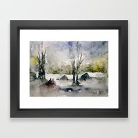 Snowy Day Framed Art Print