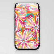 iPhone & iPod Skin featuring Festive Flowers by Shelly Bremmer