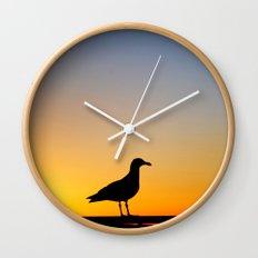 Seagull Sunset Wall Clock