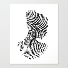 Fingerprint Silhouette P… Canvas Print