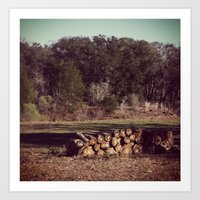 Ranch Firewood Art Print