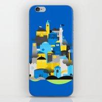 Magic Town - Blue iPhone & iPod Skin