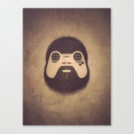 Canvas Print featuring The Gamer by Powerpig