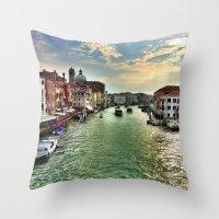 Sunrise on the Grand Canal, Venice Throw Pillow