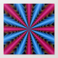 16 Segments In Pink And … Canvas Print