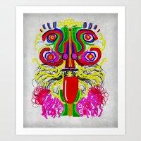 Maya Lion Art Print