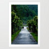 Man Walking Dog In St. G… Art Print