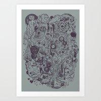 Polyphobic Vomit Art Print
