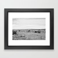 Marfa Desert in Black and White Framed Art Print