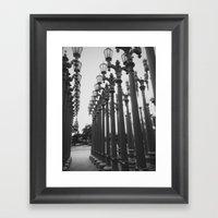 Streetlight Art Exhibit Framed Art Print
