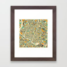 Austin Map Framed Art Print