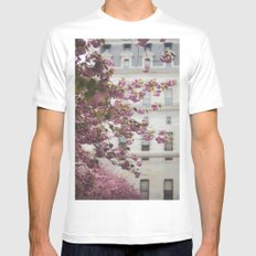City Hall Courtyard Mens Fitted Tee White SMALL