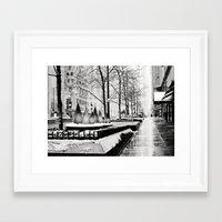 Christmas time in Chicago Framed Art Print