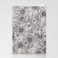 Pencil Flowers Stationery Cards