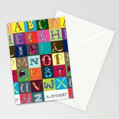 Hand Drawn Alphabet Stationery Cards