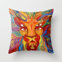 Lion's Visions Throw Pillow