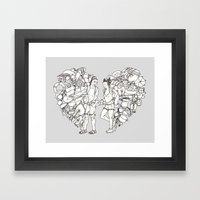 The backpackers Framed Art Print