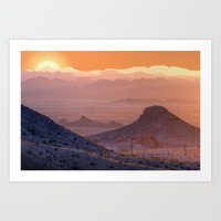 Mead Sunrise Art Print