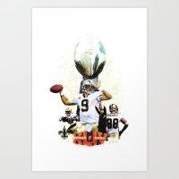 Super New Orleans Saints… Art Print