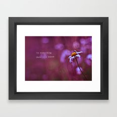 to everything a season Framed Art Print