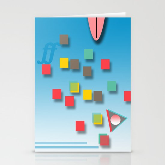 Surƒƒing Stationery Card
