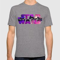 Star Wars Watercolor Gap… Mens Fitted Tee Tri-Grey SMALL