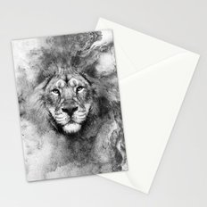 Lion Black and White Stationery Cards