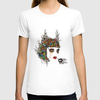 M#2 Womens Fitted Tee White SMALL