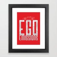 Tesla - Ego Emissions Framed Art Print