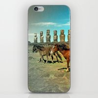 EASTER ISLAND SCENE iPhone & iPod Skin