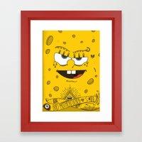 Sponge Bob Framed Art Print