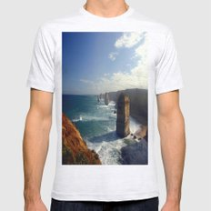 Rock Stacks & Gigantic Mainland Cliffs Mens Fitted Tee Ash Grey SMALL