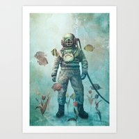 fish Art Prints featuring Deep Sea Garden  by Terry Fan