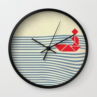 IN THE RIVER Wall Clock