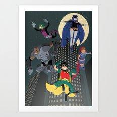 Teen Titans Art Print