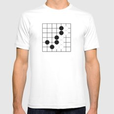 GO White Mens Fitted Tee SMALL